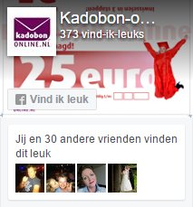 Cadeaubon online Facebook
