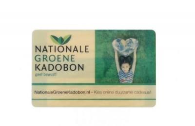 nationale groene kadobon cadeaukaart