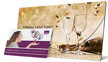 Happy New Year envelop de nieuwjaars cadeaubon