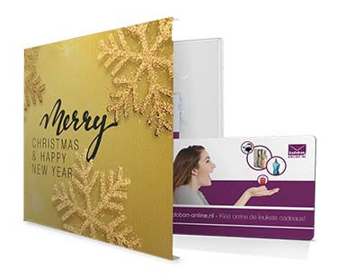 Luxe giftbox Merry Christmas & Happy New Year de kerst cadeaubon