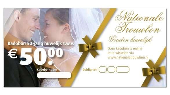 origineel kado 50 jaar huwelijk Origineel huwelijkscadeau kies je zelf online!   Cadeaubon Online.nl. origineel kado 50 jaar huwelijk
