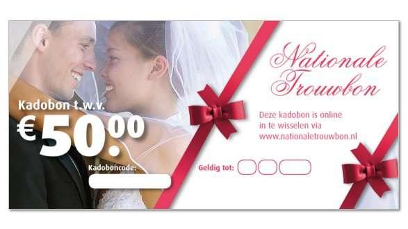 Origineel huwelijkscadeau kies je zelf online cadeaubon